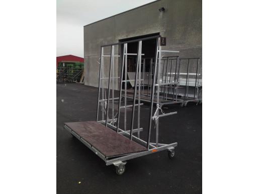 chariot d'atelier avec étagère arrière